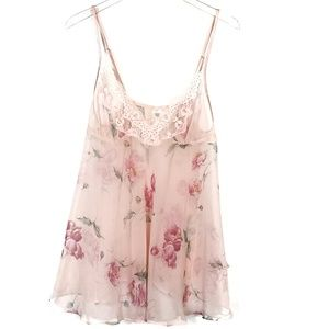 Frederick's of Hollywood Floral Babydoll Chemise